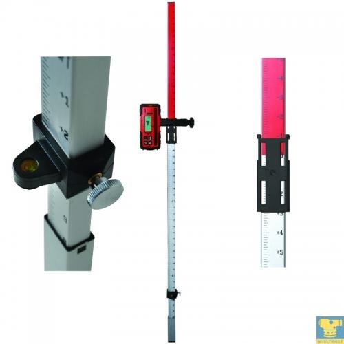 Aliuminė matuoklė - lazeriniams nivelyrams