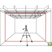 LT56 - 3-jų 360° susikertančių linijų lazeris su imtuvu HR220