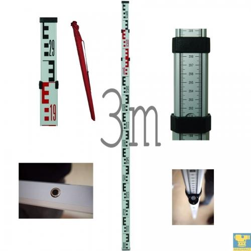 3 metrų niveliacinė matuoklė (aliuminė)