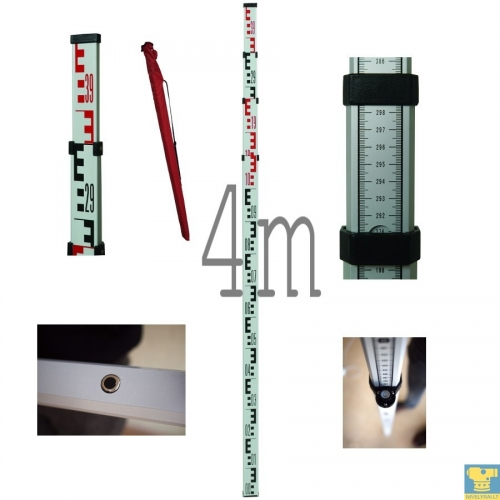 4 metrų niveliacinė matuoklė (aliuminė)