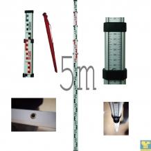 5 metrų niveliacinė matuoklė (aliuminė)